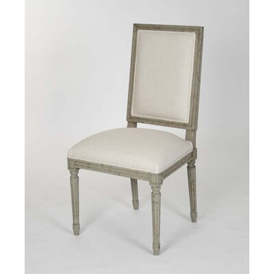 Louis Side Chair Upholstery: White - Linen
