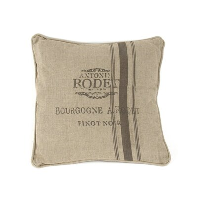 French Inspired Linen Throw Pillow