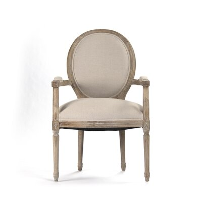Medallion Arm Chair Upholstery: Natural
