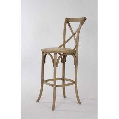 Parisienne Cafe 30.25 inch Bar Stool Finish: Natural Oak