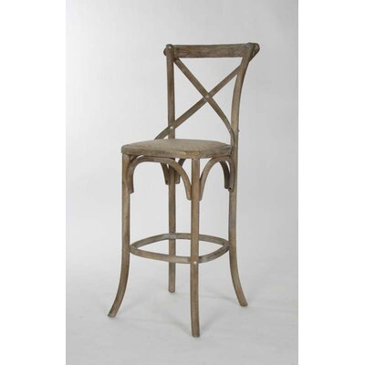 Parisienne Cafe 30.25 inch Bar Stool Finish: Limed Gray Oak