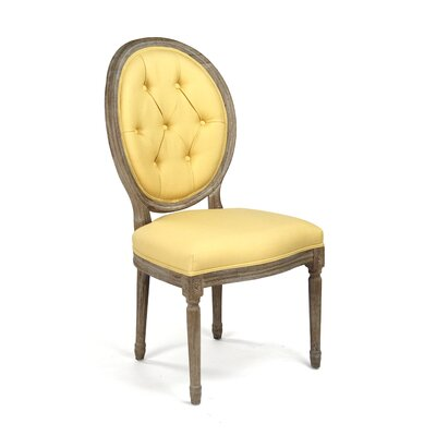 Medallion Side Chair Upholstery: Yellow
