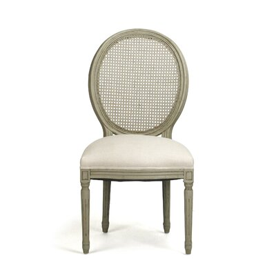 Medallion Side Chair Upholstery: Grey-Green