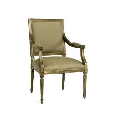 Louis Arm Chair Upholstery: Limed Grey Oak, Upholstery: Natural