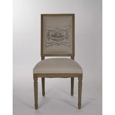 Louis Side Chair Finish: Reclaimed Elm, Upholstery: Nautral