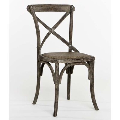 Parisienne Cafe Solid Wood Dining Chair Finish: Limed Charcoal Oak