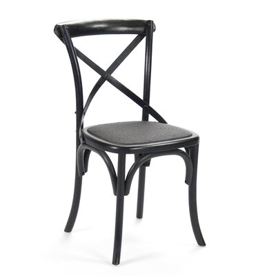 Parisienne Cafe Solid Wood Dining Chair Finish: Antique Black