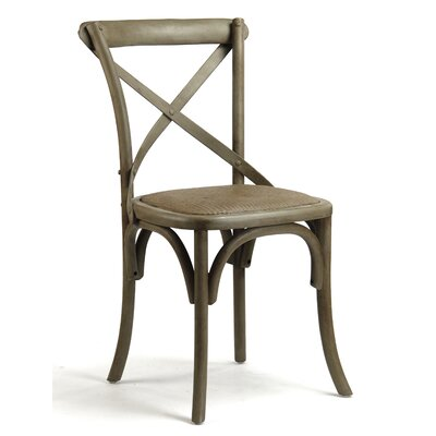 Parisienne Cafe Solid Wood Dining Chair Finish: Light Brown