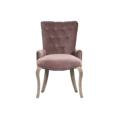Iris Tufted Arm Chair Upholstery: Copper
