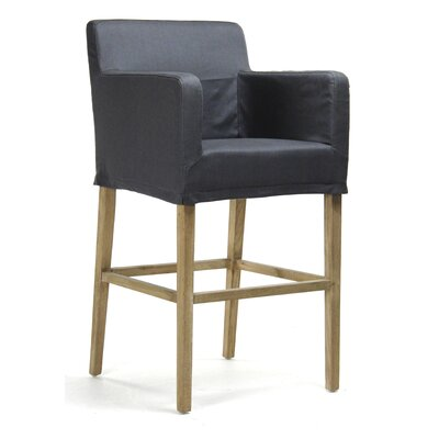 Avignon 29.5 inch Bar Stool Finish: Navy
