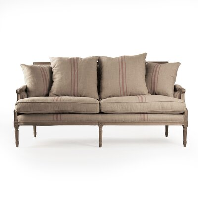 Louis Sofa Upholstery: Red