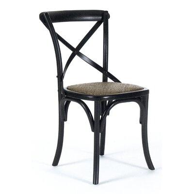 Parisienne Cafe Side Chair Color: Black