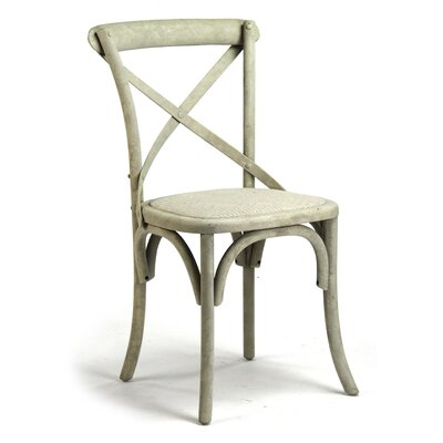 Parisienne Cafe Side Chair Color: Distressed White