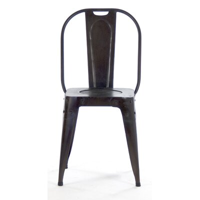 Vintage Side Chair Color: Distressed Black