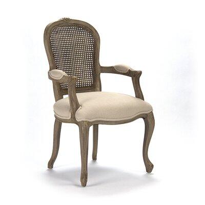 Lyon Cane Back Armchair Upholstery: Antique Oak