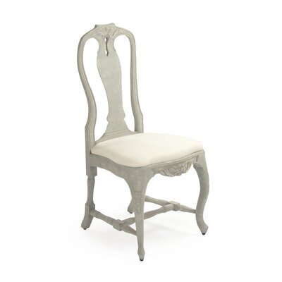 Kate Fabric Side Chair Upholstery Color: Cream