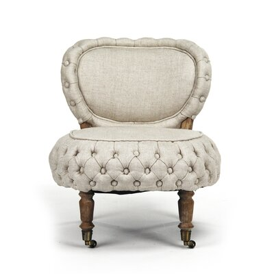 Sylvie Tufted Slipper Chair