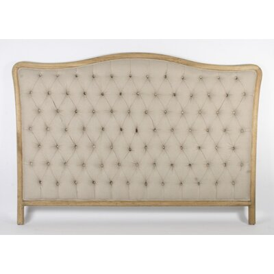 Maison Queen Upholstered Panel Headboard Upholstery: Natural