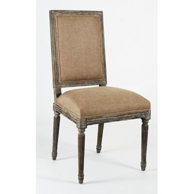 Louis Side Chair Finish: Charcoal Oak, Upholstery: Copper