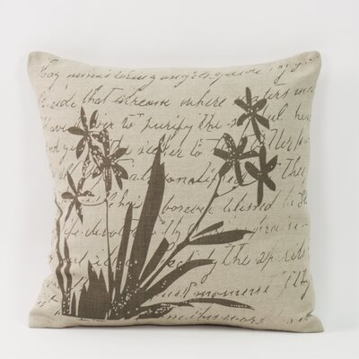French Country Wild Flower Toss Linen Throw Pillow