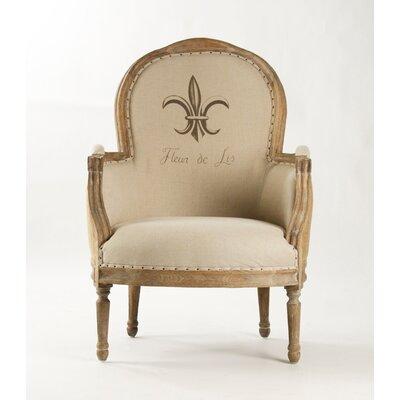 Lance Jute Fabric Armchair