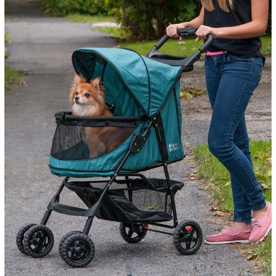 No Zip Happy Trails Standard Pet Stroller Color: Emerald