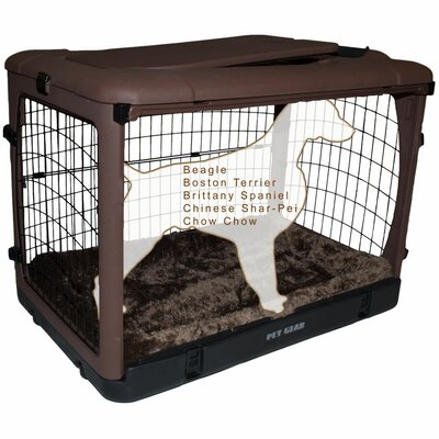 Deluxe Pet Crate II Size: Medium (27 H x 24 W x 36 L), Color: Chocolate