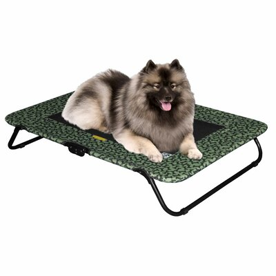 Designer Dog Cot Size: Small  (30 H x 20 W), Color: Sage Bone
