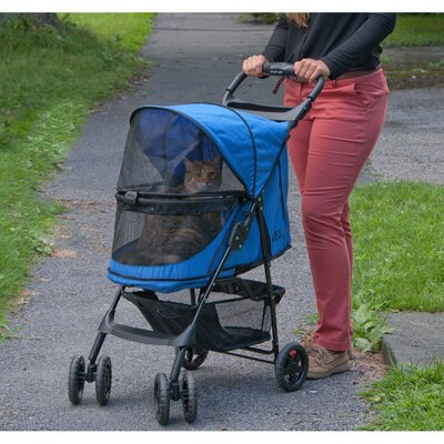 No Zip Happy Trails Standard Pet Stroller Color: Sapphire