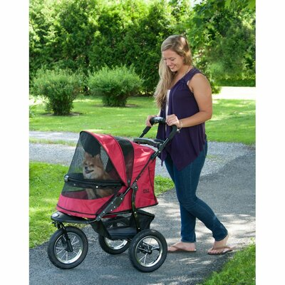 No-Zip Jogger Pet Stroller Color: Rugged Red