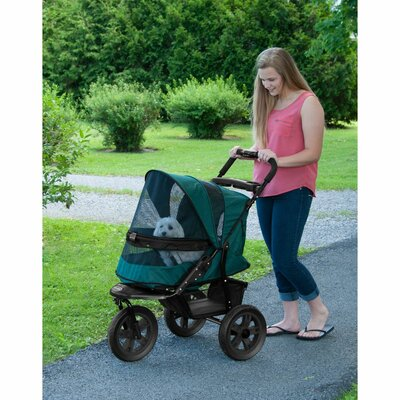 AT3 NO-ZIP Pet Stroller Color: Forest Green