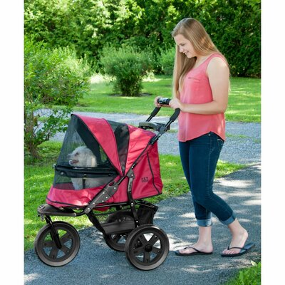 AT3 NO-ZIP Pet Stroller Color: Rugged Red