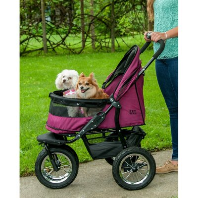 No-Zip Double Pet Stroller Color: Boysenberry