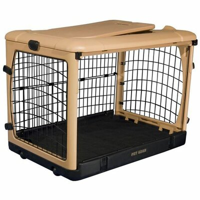 Deluxe Pet Crate II Size: Small (21 H x 18 W x 26 L), Color: Tan