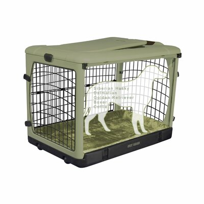 Deluxe Pet Crate II Size: Large (28 H x 28 W x 42 L), Color: Sage