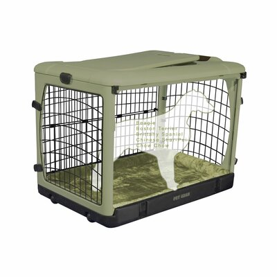 Deluxe Pet Crate II Size: Medium (27 H x 24 W x 36 L), Color: Sage