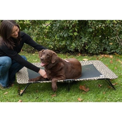 Designer Dog Cot Size: Medium (40 H x 28 W), Color: Tan Bone