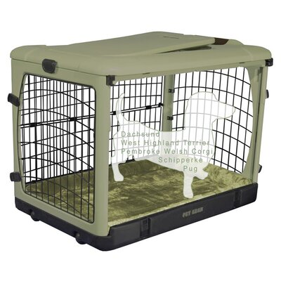 Deluxe Pet Crate II Size: Small (21 H x 18 W x 26 L), Color: Sage