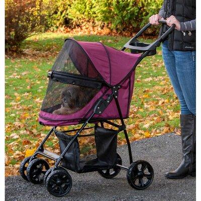 Happy Trails Lite NO-ZIP Pet Stroller Color: Boysenberry