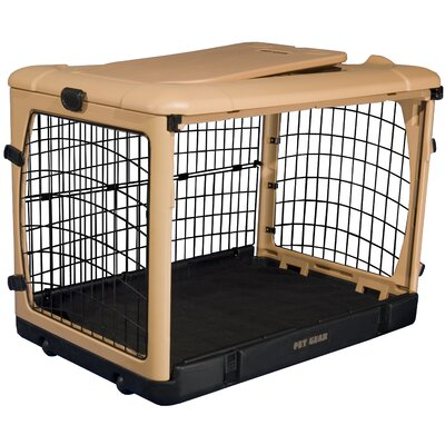 "Pet Gear Deluxe Steel Dog Crate in Tan - Size: Small (21"" H x 18"" W x 26"" L) at Sears.com"