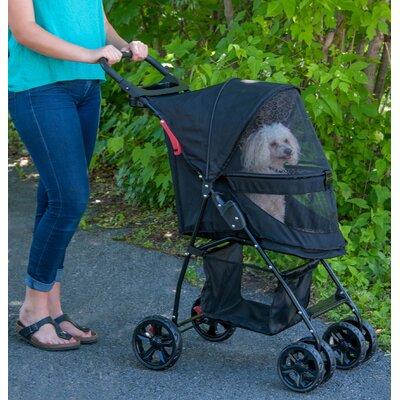 Happy Trails Lite NO-ZIP Pet Stroller Color: Jaguar