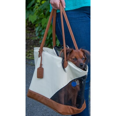 Tote Bag Pet Carrier Color: Sand