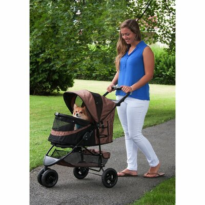No Zip Special Edition Pet Jogger Stroller Color: Chocolate