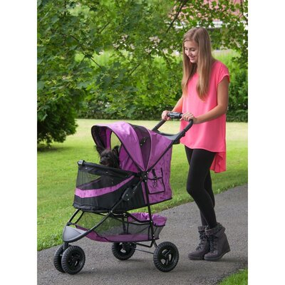 No Zip Special Edition Pet Jogger Stroller Color: Orchid