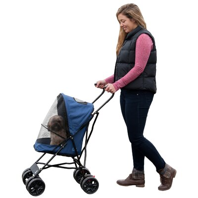 Travel Lite Standard Pet Stroller Color: Navy