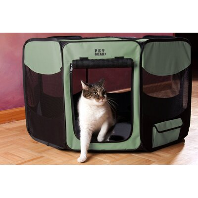 Deluxe Pet Pen Size: Medium (23 H x 36 W x 36 D), Color: Sage