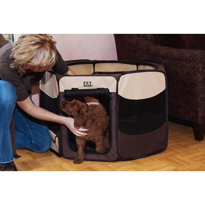 Deluxe Pet Pen Size: Small (17 H x 29 W x 29 D), Color: Sahara