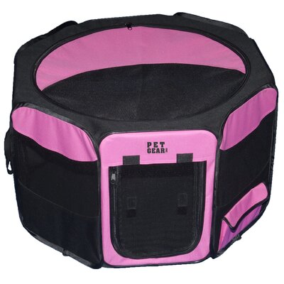 Deluxe Pet Pen Size: Small (17 H x 29 W x 29 D), Color: Pink