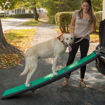 Tri-Fold Travel Lite 26.5 Pet Ramp With SupertraX Mat