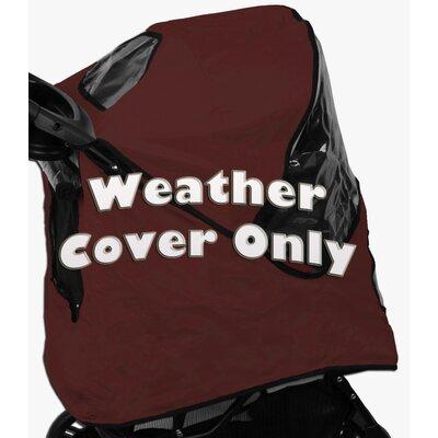 Pet Stroller Weather Cover for Jogger Stroller Color: Burgundy